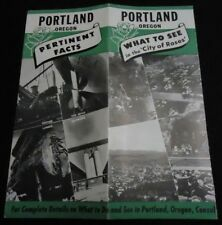 c1948 Vintage Brochure Portland Oregon City of Roses 00004000