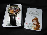 New Disney Beauty And The Beast Princess Belle Stained Glass Watch Collector Tin