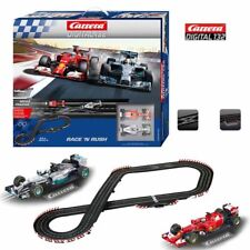 Carrera Race 'N Rush 1/32 Digital Slot Car Ferrari/Mercedes / 22.63 ft Track Set
