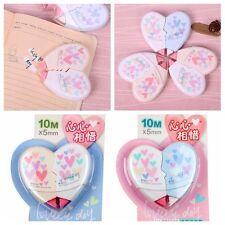 2 PCS/Pair Color random Love Heart Correction Tape Kawaii Stationery Supplies