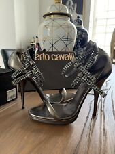 roberto cavalli sandals, Size 6UK/39 EU, Swarovski Cristals, Leather RRP €965