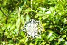 Blume des Lebens Lotus Mobile, aus Edelstahl, 15cm Durchmesser