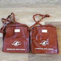 Vintage Lot of 2 KAL Korean Airlines Promo Travel Bags