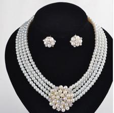 novia pedrería-cristales boda Statement-collar perlas XXL-Collier flores