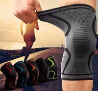 2 x Compression Knee Support Sleeve Bandage Strain/Sprain Injury Running 641 uk