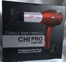 CHI Classic Red Metallic Professional Salon Hair Dryer /Blow Dryer NEW