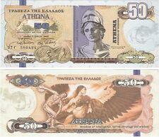 Grecia 50 DOLLARI 2014 NEUF NUOVA FANTASIA BANCONOTA RARA-Dea Atena