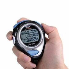 Digital Handheld Stopwatch 80 Laps Memory Three Row Counter Timer Sports Tools