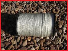 Flechtleine 3mm weiß 100m Rolle, Tauwerk Seile Festmacher, PES, Bruchlast 150kg