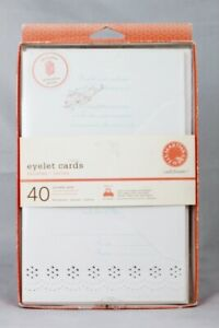 Martha Stewart Eyelet Cards 40 Printable Cards w/ Etiquette Guide