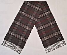 VINTAGE AUTHENTIC V.FRAAS PLAIDS & CHECKS 100% CASHMERE LONG MEN'S FRINGE SCARF