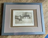 Framed Print Etching Sarah Rishel Country Cottage Framed Matted Small
