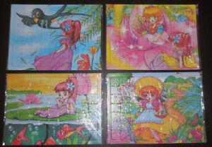 4 wunderschöne Puzzle jeweils 63 Teile
