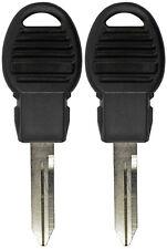 2 New Uncut Fobik Remote Transponder Ignition Chip Key Blank Valet Emergency Mk