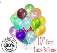 "50x 10"" Pearl LATEX BALLOONS Helium Air Birthday Party Wedding Baby Shower"