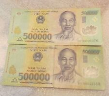 1 Million Vietnam Dong currency = 2 x  500,000 dong , Circulated condition