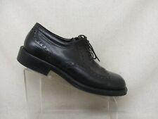 ECCO City Black Leather Brogue Oxford Dress Shoes Mens Size 43 EUR Style 072462