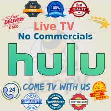 Hulu Premium 🎥 No Commercials + Live Tv | Warranty 😲 Fast Delivery 😲