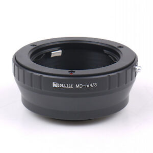 Dollice Minolta MD MC Mount Lens to Micro 4/3 M43 Adapter OM-D E-PL6 GH4 GF6 G6