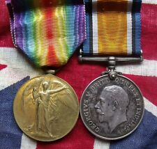 WORLD WAR ONE 1914- 1919 BRITISH WAR MEDAL & VICTORY WHRAY ASC FREE UK P&P