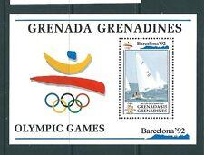 GRENADA GRENADINES 1992 HB 236 III BARCELONA 92 HOJA BLOQUE COBI, VELA