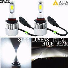 Alla Lighting White Mini LED Headlight Bulbs High Beam Conversion Kits, 9005 HB3