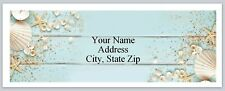 30 Return Address Labels Sea Shells Starfish Buy3 get1 free (p 250)