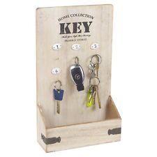 Arti Casa Wall Mounted Key Box Hooks Holder Storage Post Slot Wooden Rack Hanger