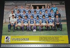 CLIPPING POSTER FOOTBALL 1985-1986 TOULOUSE TFC Téfécé STADIUM