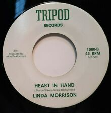 45 rpm ROCKABILLY, LINDA MORRISON DIRTY OLD MEN/ HEART IN HAND, RARE TRIPOD 100