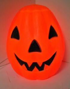 "EMPIRE Vintage BLOW MOLD Halloween JACK O LANTERN 12"" Pumpkin Light- Up W/ Cord"