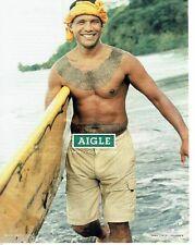 PUBLICITE ADVERTISING 116  2004  Aigle vetements pour la planète  Polynésie shor