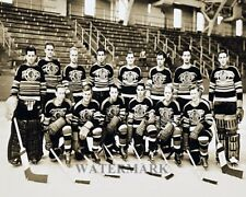NHL 1939 Chicago Black Hawks Team Photo Black & White 8 X 10 Pic Photo