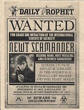 Harry Potter Daily Prophet Wanted Newt Scamander > Fantastic Beasts > Prop/Print