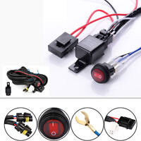12V 30A LED Work Fog Light Bar Wiring Harness Relay Kit ON/OFF Switch Off Road