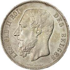 [#454897] Monnaie, Belgique, Leopold II, 5 Francs, 5 Frank, 1874, SUP, Argent