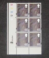 GB - SCOTLAND  2003  68p Tartan definitive Plate block of 6  SG S119 MNH (S*-10)