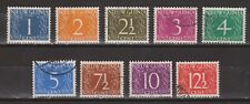 Indonesia Nederlands Nieuw Guinea New Guinea  1 - 9 used 1950 1e SERIE