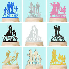 Wedding Anniversary Cake Topper Family Personalised Kids Baby Bling Decoration