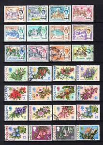 BERMUDA 1970 DECIMAL CURRENCY + 1970 FLOWERS FINE USED SHORT SETS CAT £34.75