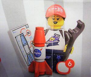 Lego 71027 Minifiguren Serie 20 Weltraumfan Raketenfan Rocket Fan Girl # 6 NEU