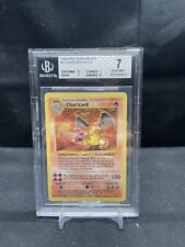 1999 Pokemon Base Shadowless Charizard STRONG BGS 7 (9/7/7/8) - 4/102