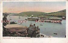 "Royal Navy Postcard. HMS ""Hindustan"" & ""Britannia"" Training. Dartmouth. 1906"