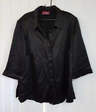 Eve Hunter size 22 BLACK SHIRT TOP 3/4 LENGTH SLEEVE BRAND NEW WITH TAGS