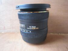 SIGMA EX 10-20MM 1:4-5.6 DC HSM CAMERA LENS FOR CANON**FREE P&P**