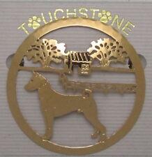 Basenji Jewelry Gold Locking Back Pin