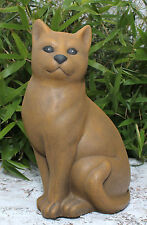 sculpture en pierre CHATS position assise de jardin décoration d'animal