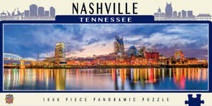 Nashville Tennessee 1000 piece panoramic jigsaw puzzle  990mm x 330mm  (mpc)