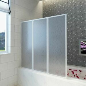 vidaXL Badewannen Faltwand Duschabtrennung Duschwand Duschkabine 141 x 132 cm