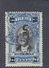 "Liberia 1920, 5c on 10c Buchanan, INVERTED OVERPRINT, ITALIC ""2"" used #178"